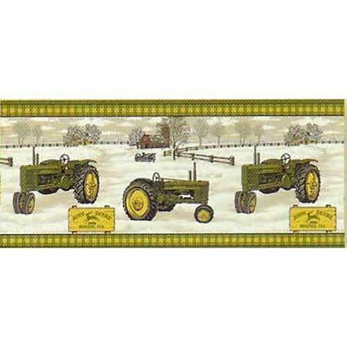 John Deere Antique Tractor Wallpaper Border