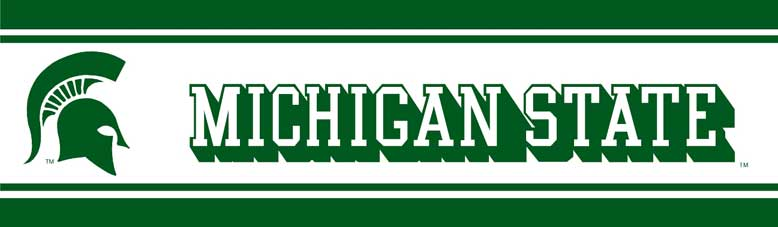 Michigan State Spartans 5 1 4 Quot Tall Wallpaper Border