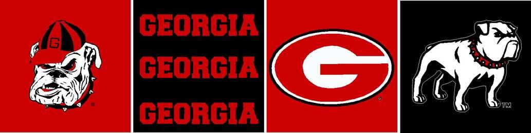 "Georgia Bulldogs 6"" Tall Wallpaper Border"