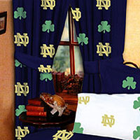 Notre Dame Fighting Irish 100 Cotton Sateen Window