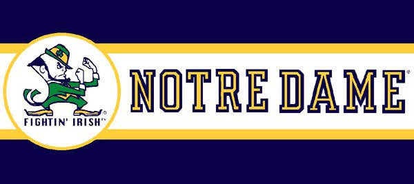 Notre Dame Fighting Irish 7 Quot Tall Wallpaper Border