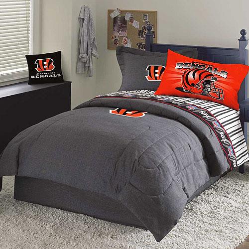 Cincinnati Bengals Nfl Team Denim Full Comforter Sheet Set