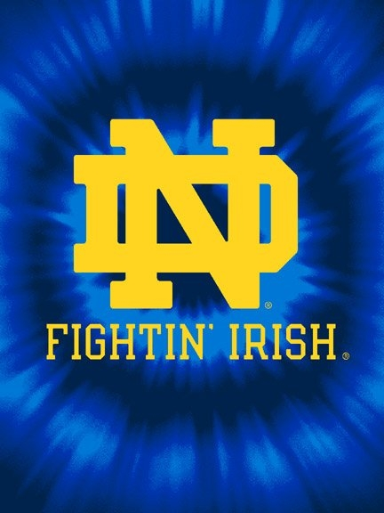 Notre Dame Fighting Irish College Quot Tie Dye Quot 60 Quot X 80
