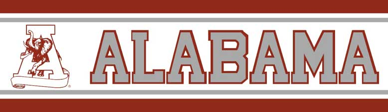 Alabama Crimson Tide Narrow Wallpaper Border