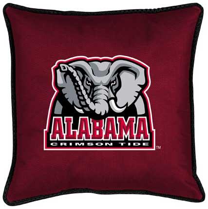 alabama crimson tide side lines toss pillow