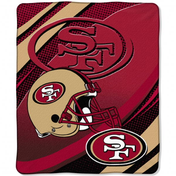 san francisco 49ers nfl micro raschel blanket 50 x 60. Black Bedroom Furniture Sets. Home Design Ideas