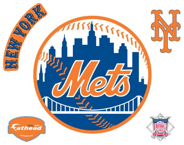 New York Mets Resized Logo Fathead Mlb Wall Graphic