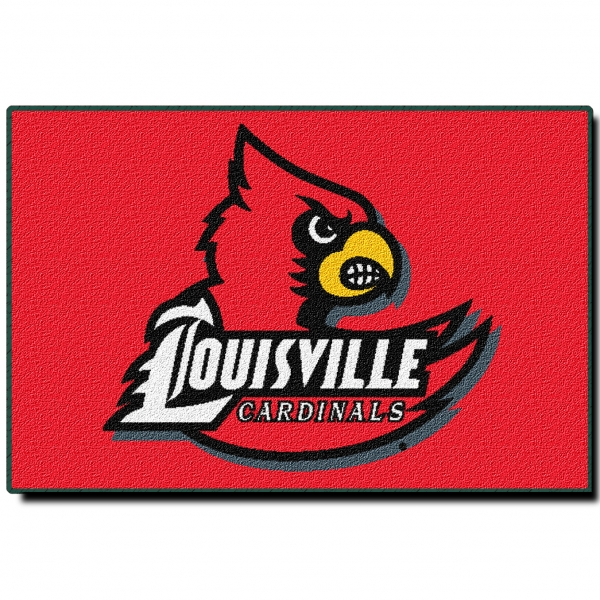louisville cardinals ncaa college 39quot x 59quot acrylic tufted rug