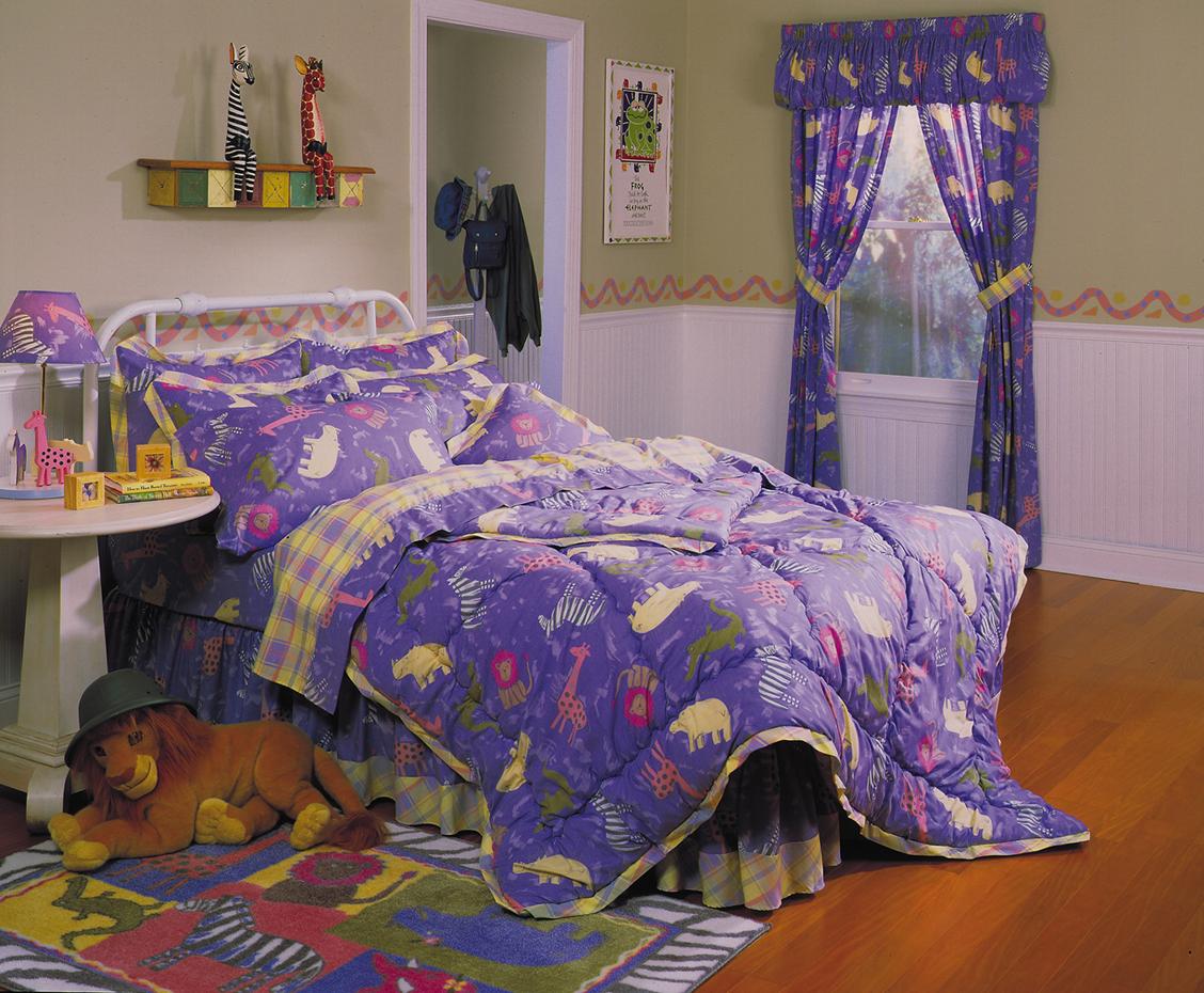 Zoo Animals Four Piece Twin Comforter Set