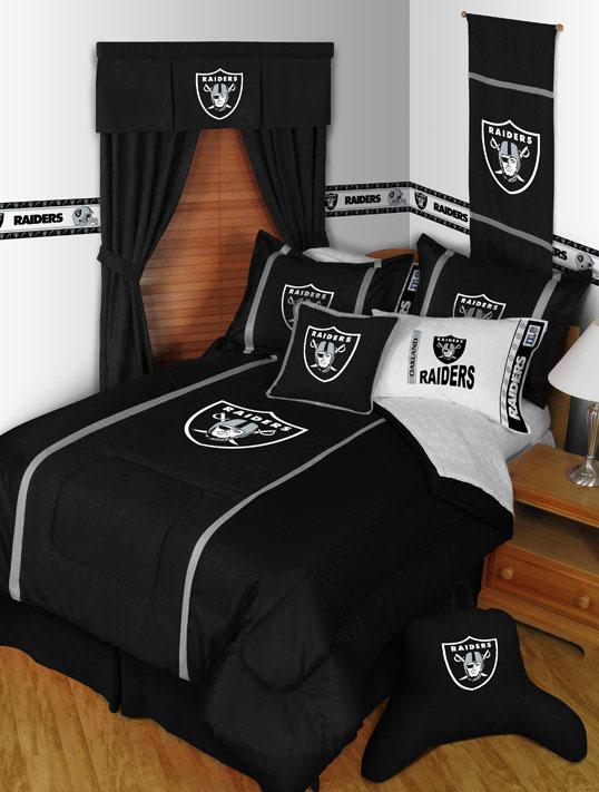 Oakland Raiders MVP Shower Curtain Zoom