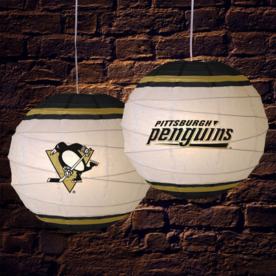 Pittsburgh Penguins Nhl 18 Rice Paper Lamp