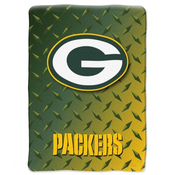 Green Bay Packers Nfl Quot Diamond Plate Quot 60 X 80 Quot Raschel Throw