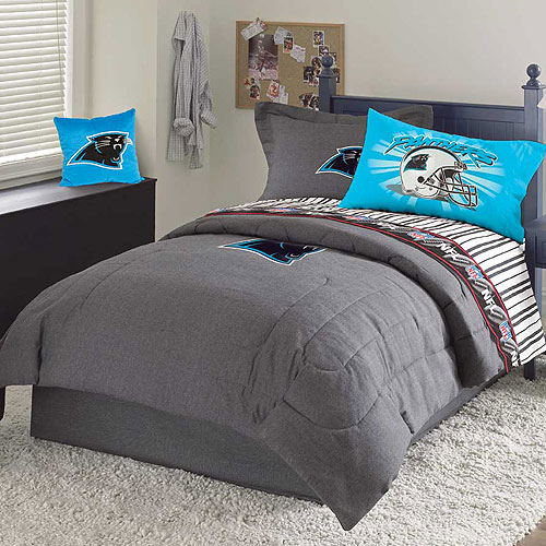 Carolina Panthers Nfl Team Denim Twin Comforter Sheet Set