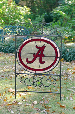Alabama Crimson Tide Ncaa College Stained Glass Outdoor