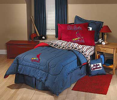 St Louis Cardinals Team Denim Queen Size Comforter