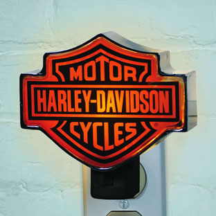 Harley Davidson Motorcycle Chrome Night Light