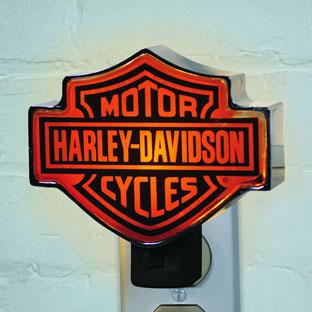 Harley Davidson Motorcycle Chrome Night Light