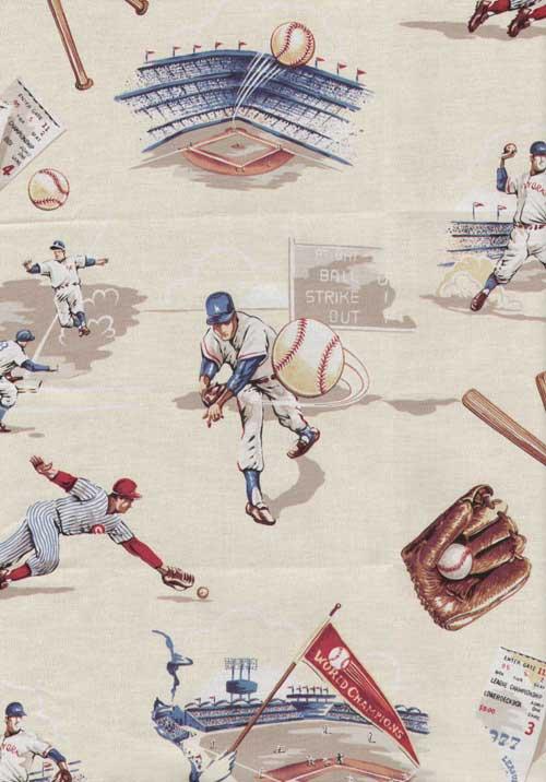 Vintage Creme Baseball Twin Hugger Comforter