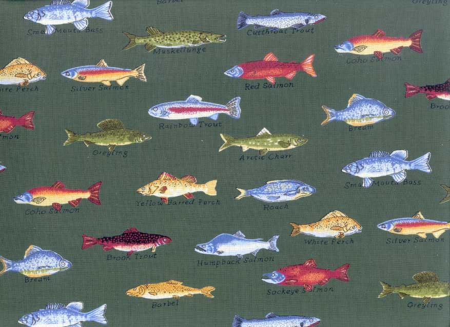 Gone Fishing Hugger Comforter Green Fish