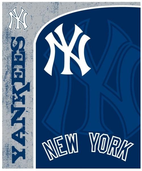"New York Yankees MLB Micro Raschel Blanket 50"" X 60"""