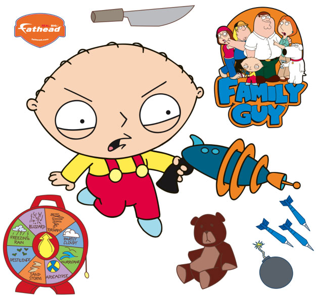 Stewie Ray Gun Fathead Family Guy Wall Graphic