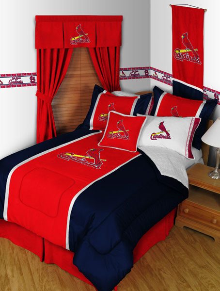 St Louis Cardinals Mlb Microsuede Comforter Sheet Set