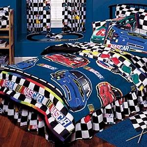 Nascar Checkered Flag Full Comforter Sheet Set