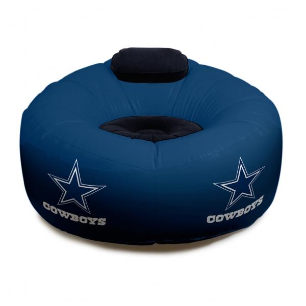 Dallas Cowboys Nfl Vinyl Inflatable Chair W Faux Suede