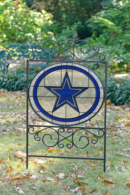 Dallas Cowboys Nfl Stained Glass Outdoor Yard Sign