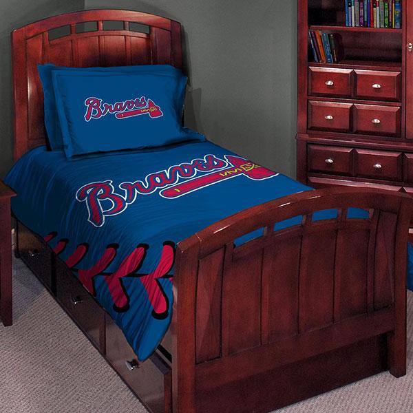 "Atlanta Braves MLB Twin Comforter Set 63"" x 86"""