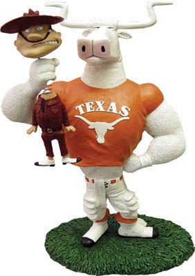 Texas Longhorns Ncaa College Rivalry Mascot Figurine