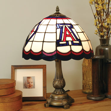 Arizona Wildcats Ncaa College Stained Glass Tiffany Table Lamp