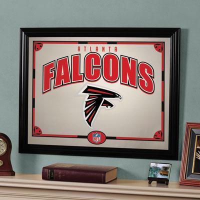 Atlanta Falcons Nfl Framed Glass Mirror