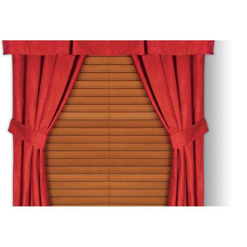 Mvp Microsuede Red Window Drape