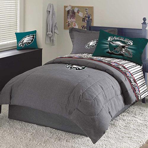 Philadelphia Eagles Nfl Team Denim Queen Comforter Sheet Set