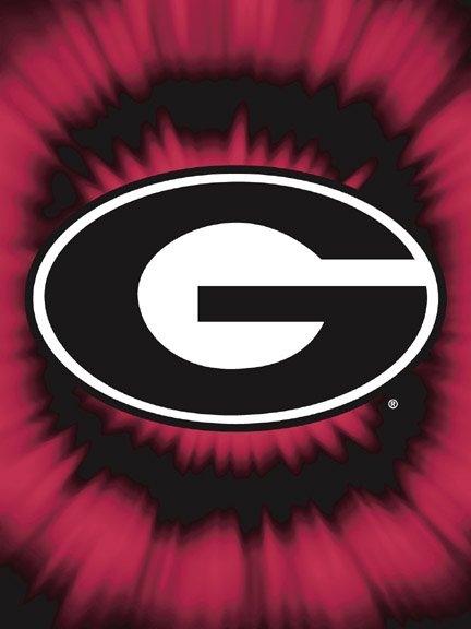 Georgia bulldogs college quot tie dye quot 60 quot x 80 quot super plush throw