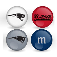 New England Patriots Custom Printed Nfl M Amp M S With Team Logo