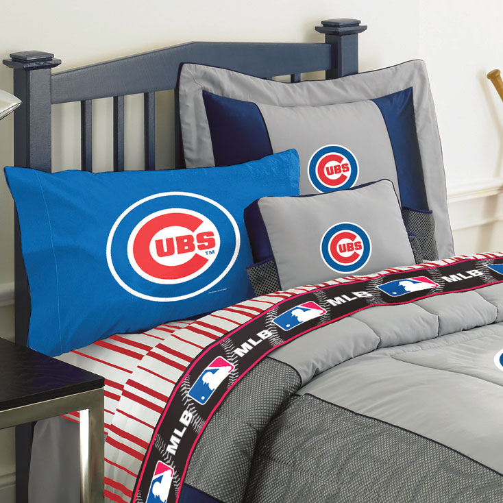 Chicago Cubs Twin Size Sheets Set