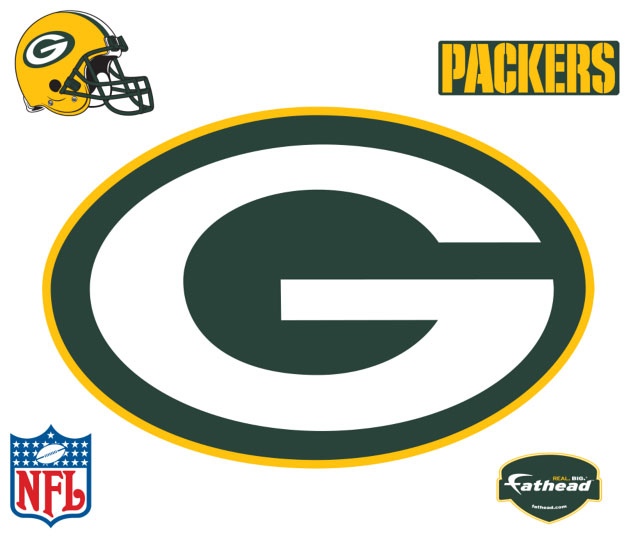 Green Bay Packers Logo Fathead Nfl Wall Graphic