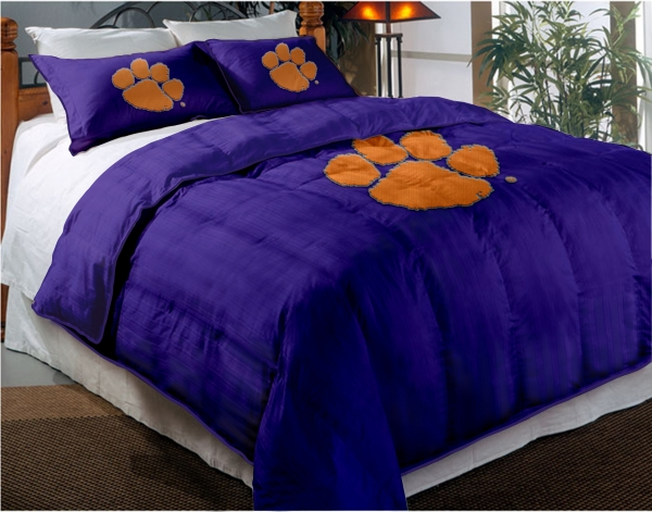 Clemson Tigers College Twin Chenille Embroidered Comforter