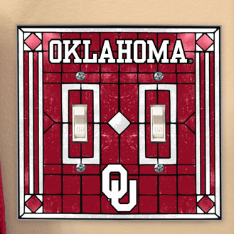 OU Sooner Clip Art http://www.familybedding.com/1-866-925-6650/products/Oklahoma_Sooners_NCAA_College_Art_Glass_Double_Light_Switch_Plate_Cover.html