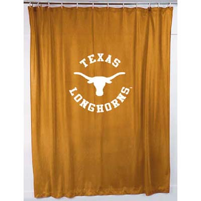Texas Longhorns Locker Room Shower Curtain Zoom