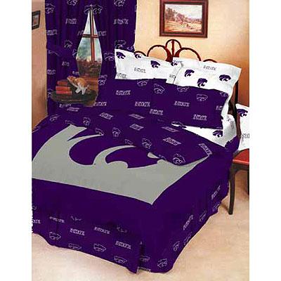Kansas State Wildcats 100 Cotton Sateen Queen Bed In A Bag