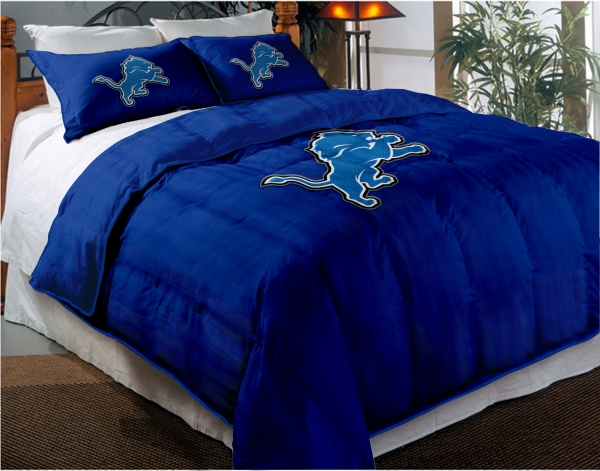 Detroit Lions Nfl Twin Chenille Embroidered Comforter Set