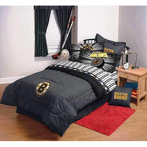 Boston Bruins Full Comforter / Sheet Set