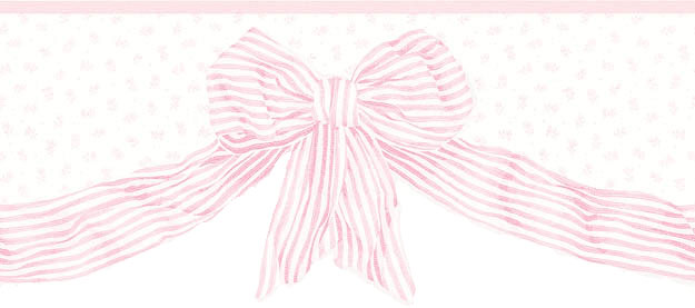 Pink Bow Wall Border