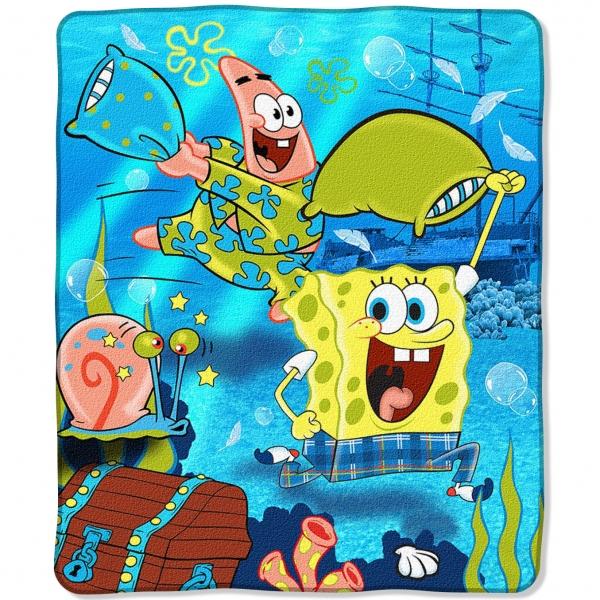 Spongebob Squarepants Blue Pj Party Entertainment 50 Quot X 60