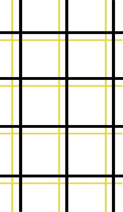 Black Yellow Plaid Wallpaper Double Roll