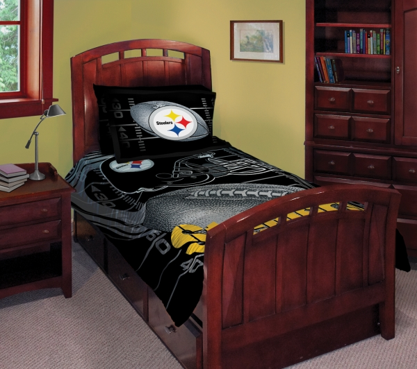 bedding room decor accessories pittsburgh steelers nfl bedding