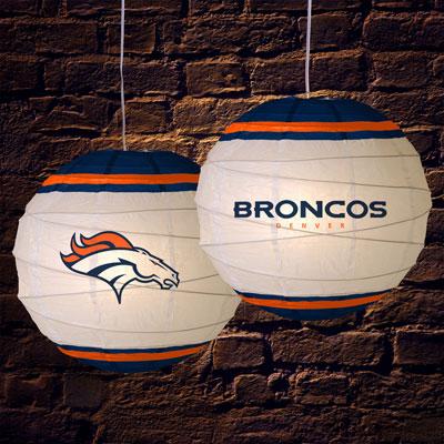 Denver Broncos Nfl 18 Quot Rice Paper Lamp